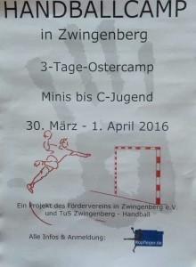 Handballcamp in den nächsten Osterferien